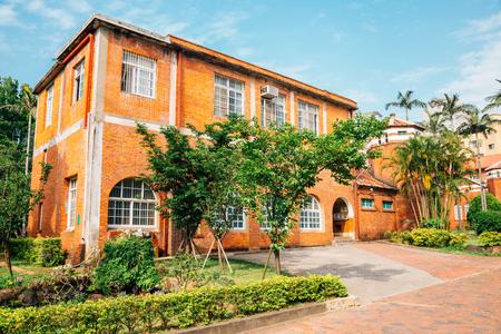 Taipei, Taiwan - April 28, 2018 : Dan Jiang High School, historical building 新聞圖片