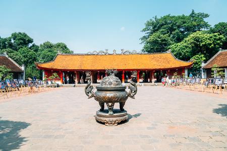 Hanoi, Vietnam - October 12, 2018 : Temple of literature Editorial