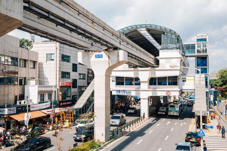 Daegu, Korea - September 22, 2018: Korean old traditional Seomun market and subway station Redakční