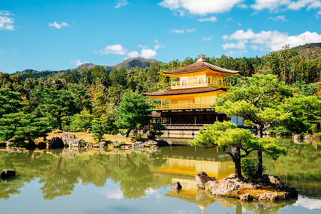 Kinkaku-ji temple, Golden pavilion in Kyoto Japan Editorial