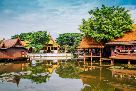 Ancient City Mueang Boran, Old traditional architecture in Bangkok, Thailand Imagens