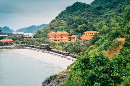 Cat co beach 3 in Cat Ba island, Vietnam Banco de Imagens