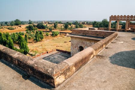 Orchha Fort Rai Parveen Mahal, ancient ruins in India Stock Photo