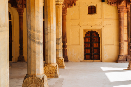 Amber Palace historic architecture in Jaipur, India