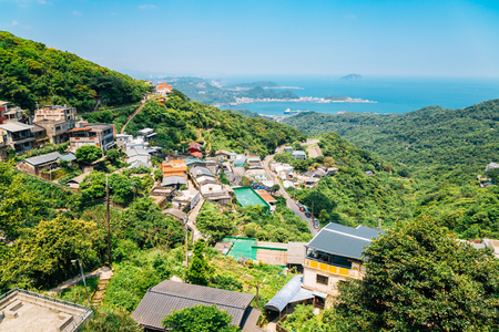 Jiufen old town and nature view in Taiwan