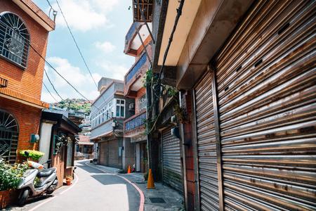 Jiufen old town street in Taiwan Stock Photo