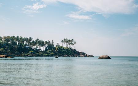 Palolem beach in Goa, India 스톡 콘텐츠