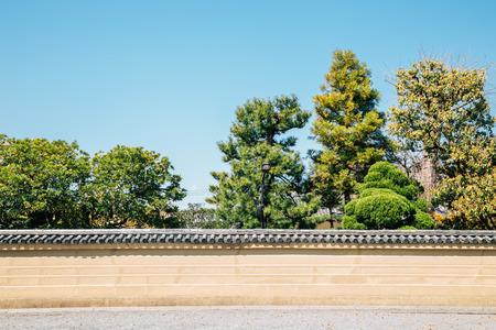 Toji temple traditional garden in Kyoto, Japan