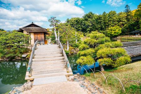 Korakuen garden at spring in Okayama, Japan Stockfoto