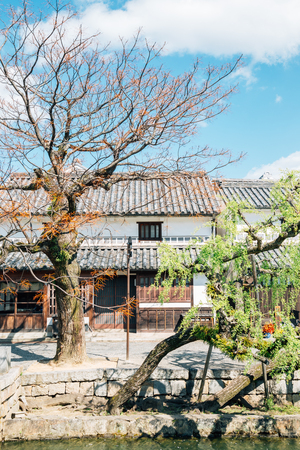 Kurashiki Bikan Historical Quarter, traditional village in Okayama, Japan