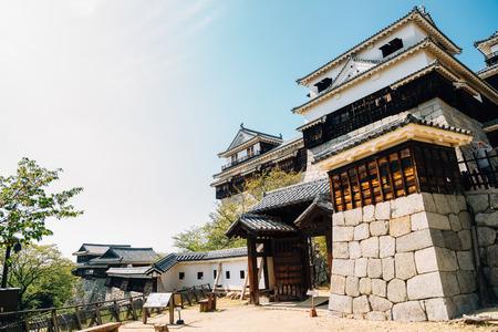 Matsuyama Castle traditional architecture in Matsuyama, Shikoku, Japan