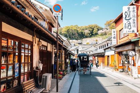 Okayama, Japan - April 15, 2019 : Kurashiki Bikan Historical Quarter, traditional village