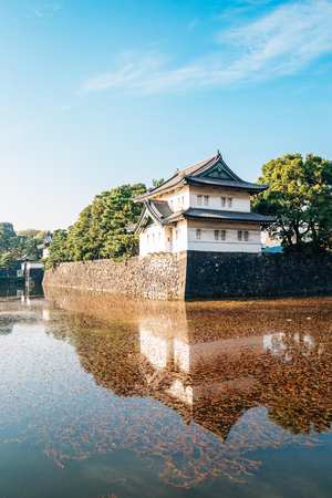 Imperial palace historical architecture in Tokyo, Japan