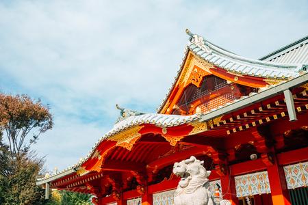 Kanda Shrine traditional architecture in Tokyo, Japan Redactioneel