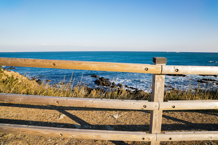 Ganjeolgot sea and wooden fence in Ulsan, Korea