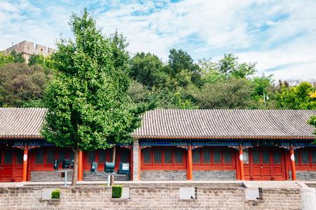 The Great Wall in Beijing, China Redactioneel