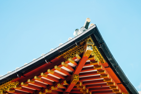 Nezu shrine traditional architecture in Tokyo, Japan