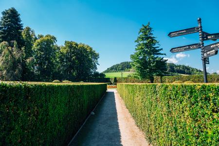 Castle Garden at summer in Cesky Krumlov, Czech 版權商用圖片
