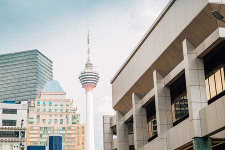 Kuala Lumpur Tower and modern buildings in Malaysia