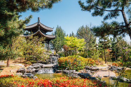 Chinese traditional garden and pavilion