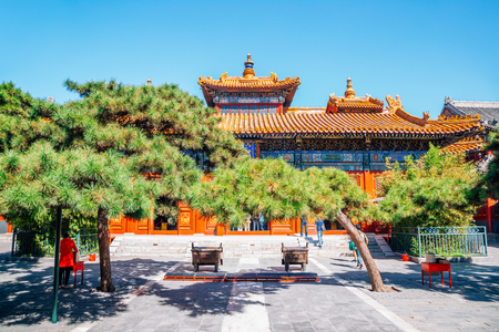 Lama Temple, Chinese traditional architecture in Beijing, China