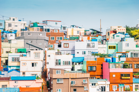 Colorful houses at Gamcheon Culture Village in Busan, Korea