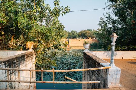 Gwalior fort Suraj Kund pond in India