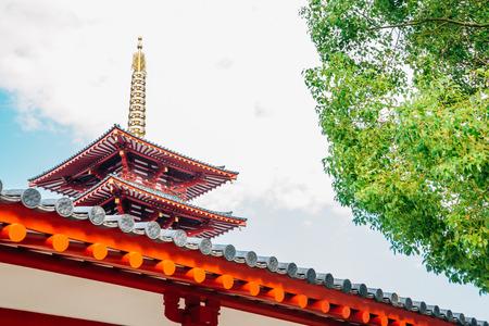 Shitennoji Temple traditional architecture in Osaka, Japan