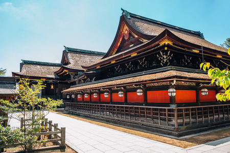Kitano Tenmangu Shrine traditional architecture in Kyoto, Japan 報道画像