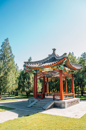 Temple of Earth, Ditan Park, Chinese traditional garden in Beijing, China