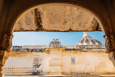 City Palace historical architecture in Udaipur, India