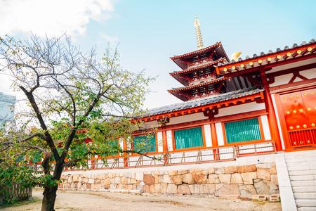 Shitennoji Temple in Osaka, Japan 報道画像