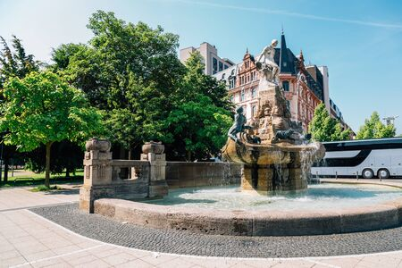 Frankfurter Marchenbrunnen Fairy tale fountain in Frankfurt, Germany