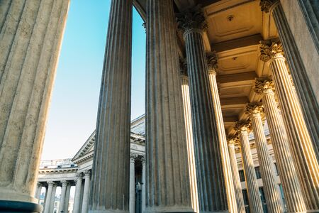 Kazan Cathedral historic architecture in Saint Petersburg, Russia