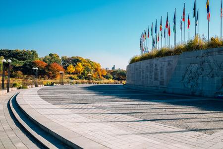 Seoul, Korea - November 2, 2018 : Olympic park at autumn