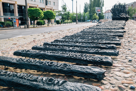 Warsaw, Poland - June 14, 2019 : Monument to the Fallen and Murdered in the East