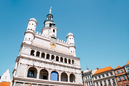 Stary Rynek old market square town hall in Poznan, Poland