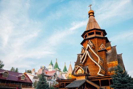Moscow, Russia - August 21, 2019 : Izmailovo Kremlin old church