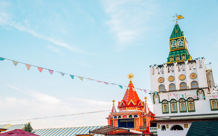 Moscow, Russia - August 21, 2019 : Izmailovo Kremlin