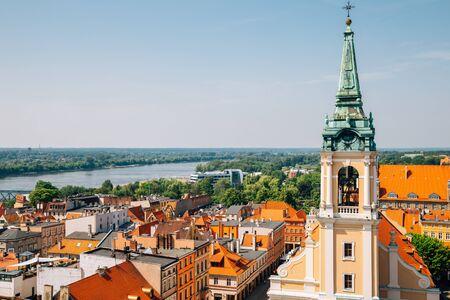 Rynek Staromiejski square, Old town cityscape in Torun, Poland