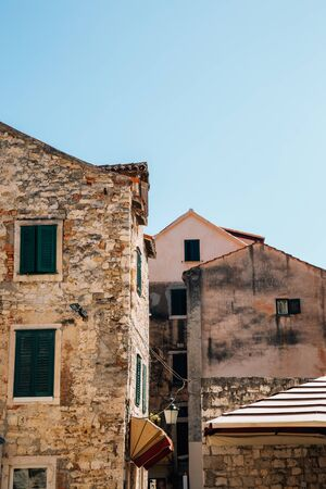 Old town house building exterior in Split, Croatia