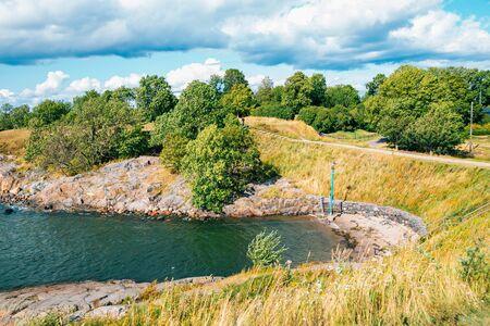 Nature scenery at Suomenlinna Sea Fortress in Helsinki, Finland Reklamní fotografie