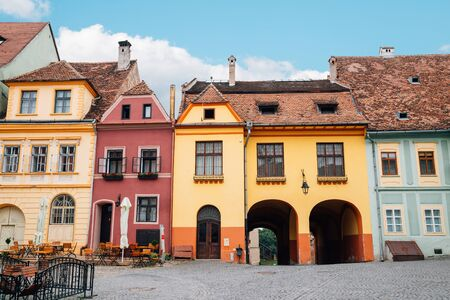 Sighisoara old town Fortress square in Romania