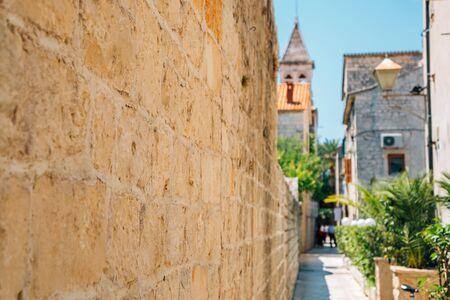 Historic town Trogir street in Trogir, Croatia