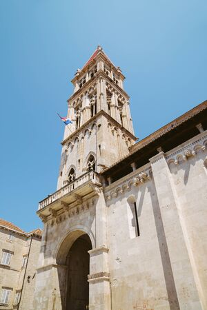 Cathedral of St. Lawrence in Trogir, Croatia Stock Photo