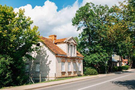 Trakai town street at summer in Lithuania 版權商用圖片