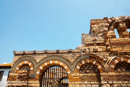 Church of the Holy Archangels Michael and Gabriel Ruins in Nessebar, Bulgaria