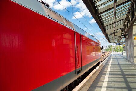 Zoologischer Garten railway station platform in Berlin, Germany