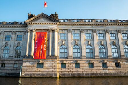 Berlin, Germany - June 7, 2019 : Bode-Museum with Spree River Redakční