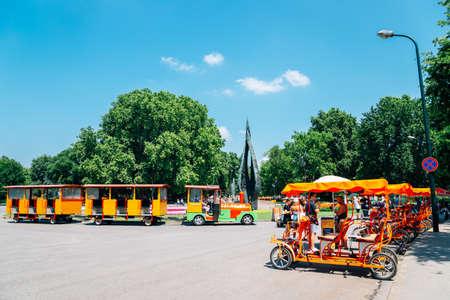 Budapest, Hungary - June 25, 2019 : Margaret Island park